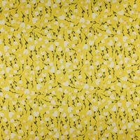 Fleurs blanches fond jaune (coton)