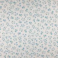 Fleurs bleues fond blanc (jersey)