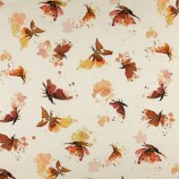Papillons fond blanc cassé (jersey)