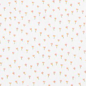 Petites fleurs fond blanc (coton GOTS)