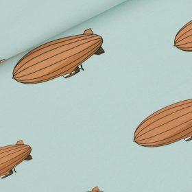 Zeppelins fond bleu (molleton léger)