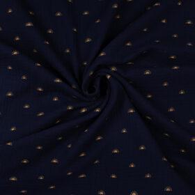 Soleils fond bleu marine (double gaze bio)