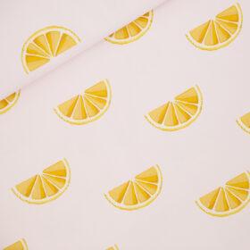 citrons fond rose (coton épais)