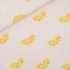 citrons fond rose (molleton léger)