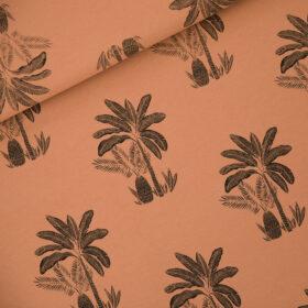 palmiers fond pecan brown (molleton léger)