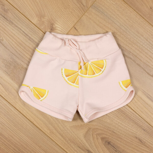 mini short enfant molleton citrons