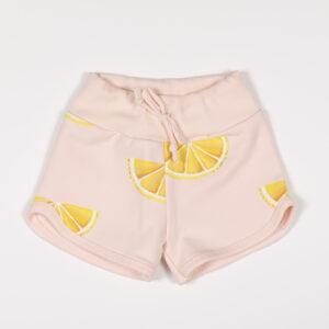 mini short enfant molleton citrons fb