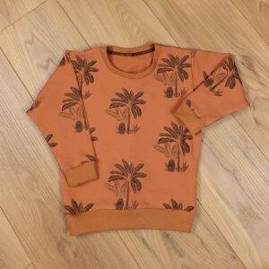 sweat bébé enfant loose palmiers pecan brown