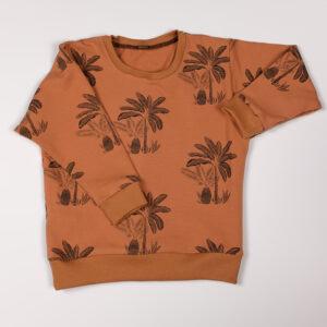 sweat bébé enfant loose palmiers pecan brown fb